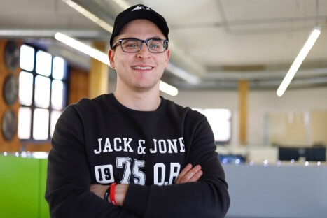 Michael Zaccaria, the operations manager for a startup called Hamilton Rising, is one of several millennials who have chosen to forego the typical nine-to-five job to take on gig-type occupations. (Amanda Pope/The Virago)